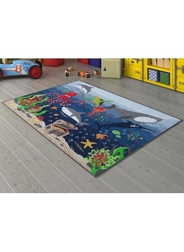 Confetti Deep Water Çocuk Odası Anaokulu Denizaltı Oyun Halısı Renkli